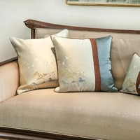 chinese classical style cushion cover embroidery home pillowcase light luxury decorative pillows for sofa living room 4545cm