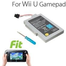 Batería de repuesto de 3600mah para el mando Wii U, paquete de batería de Joystick para el mando Wii U, accesorios de batería con destornillador