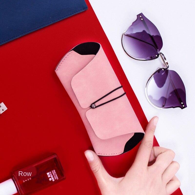 Estuche para gafas con hebilla, funda suave para miopía, Simple, Retro, compresiva, portátil, mate, polaco, ocultar sustancia, gafas de sol