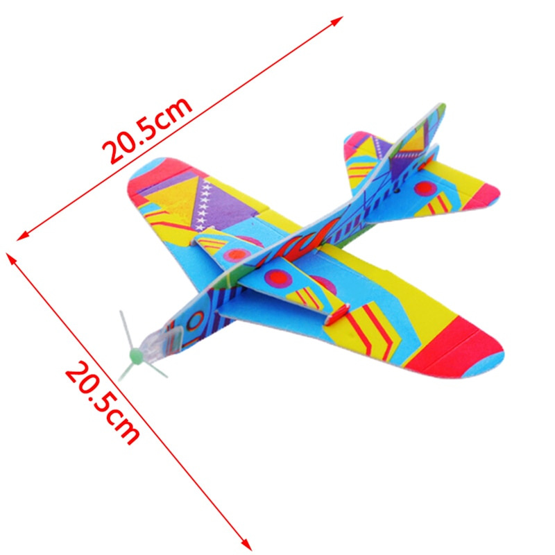 Avión de espuma, juguete creativo para niños, rotonda mágica de combate, modelo de avión de papel, a mano, lanzar aviones de juguetes planeadores para niños