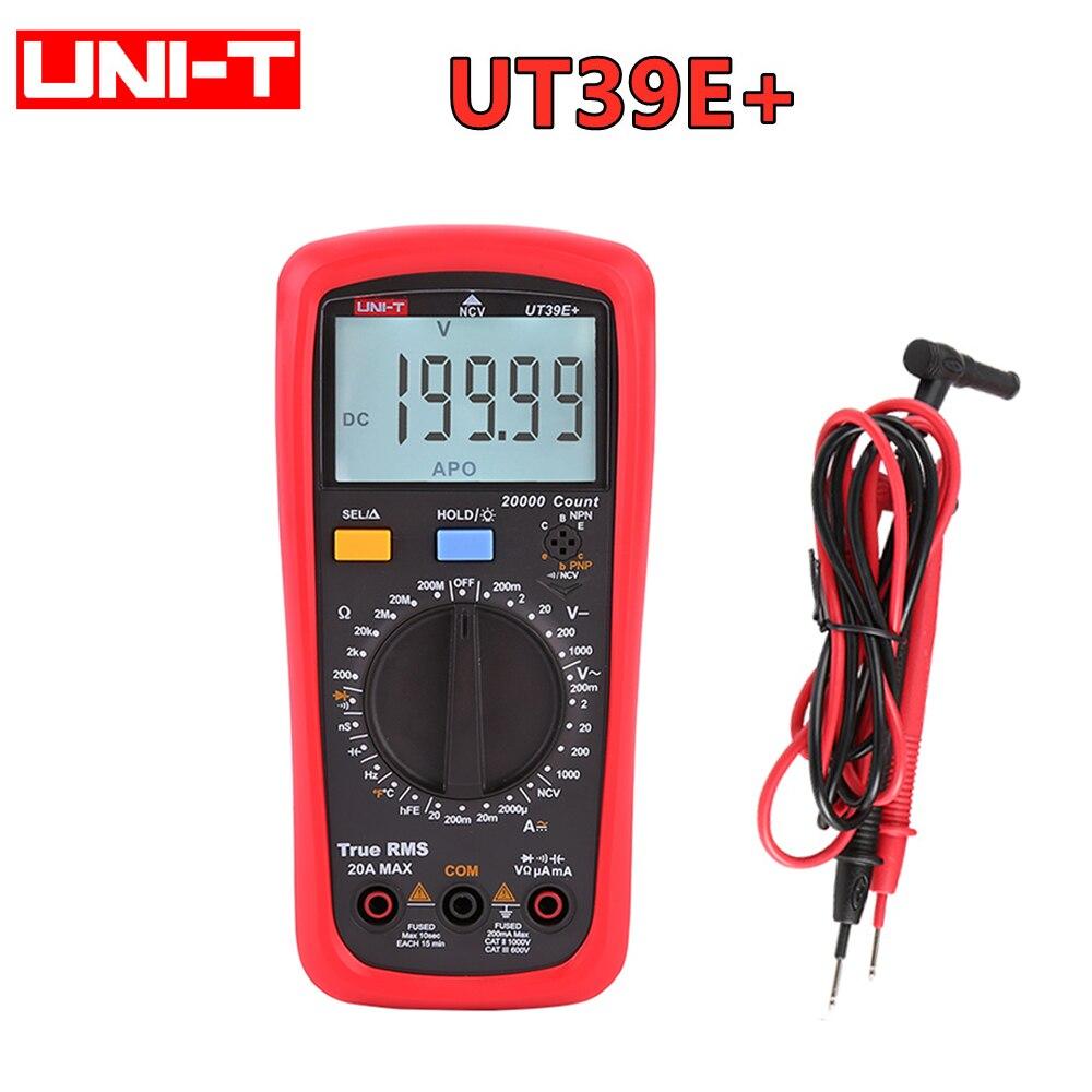 UNI-T UT39E + multímetro Digital Uni t 20A 1000V AC DC de...