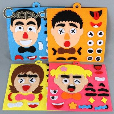Игрушка-Пазл «сделай сам» с эмоциями-Творческая головоломка с изменением лица, обучающая головоломка с эмоциями, игрушки для обучения дете...
