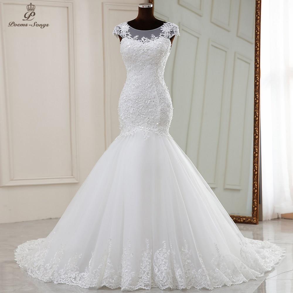 Real photo Real video Elegant mermaid wedding dress 2020 marriage dress robe de mariee vestidos de novia sereia