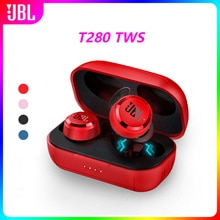 100% original JBL T280 TWS Wireless Bluetooth Earphone Sports Earbuds Deep Bass Headphones Waterproof Headset with Charging Case