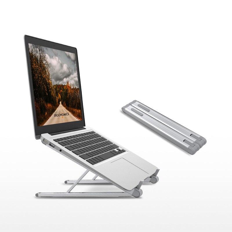JP-2 soporte portátil de aluminio fácil plegable de 9,7-15,6 pulgadas soporte de ordenador portátil Ultra ligero soporte de ordenador portátil