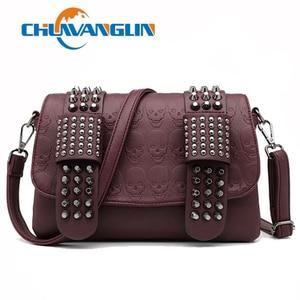 Women's Messenger Bags Rivet Envelope Mini Clutch Bags Envelope Crossbody Shoulder Bag Crossbody small square bag 2111001