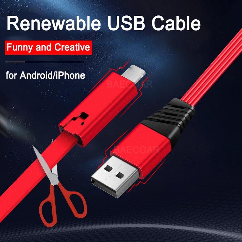Reborn-Cable Micro USB Tipo C para teléfono inteligente, Cable cargador para Xiaomi,...