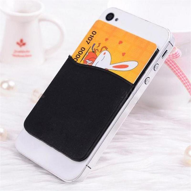 Adhesive Sticker Back Cover Card Holder Case Pouch For Cell Phone 1 Pc Universal Silicone Wallet Credit Sleeve