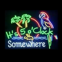 Custom It's 5 O'clock Somewhere Glass Neon Light Sign