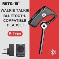 retevis wireless bluetooth compatible headphones walkie talkie headset finger ptt for kenwood retevis baofeng uv 5r uv 82 bf888s