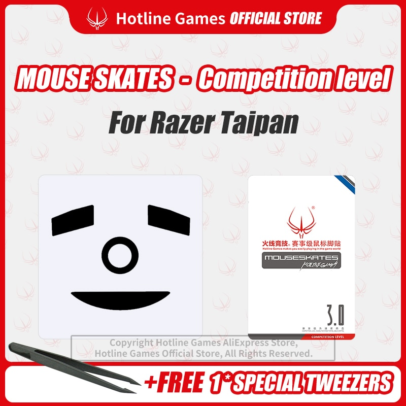 Hotline Games 3.0 Competition Level Mouse Skates Mouse Feet Pad for Razer Taipan Mouse 0.28mm/0.6mm Thickness enlarge