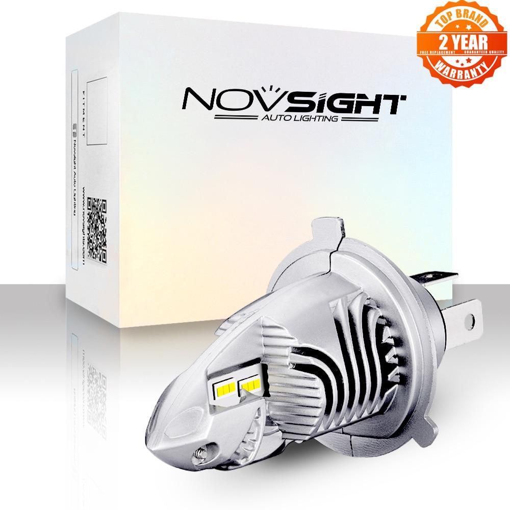 مصباح دراجة بخارية من novilo مصابيح Led H4 6000LM 35 واط 6000 كيلو أبيض 12 فولت 1:1 تصميم صغير للدراجات النارية كشافات التوصيل والتشغيل العلوي