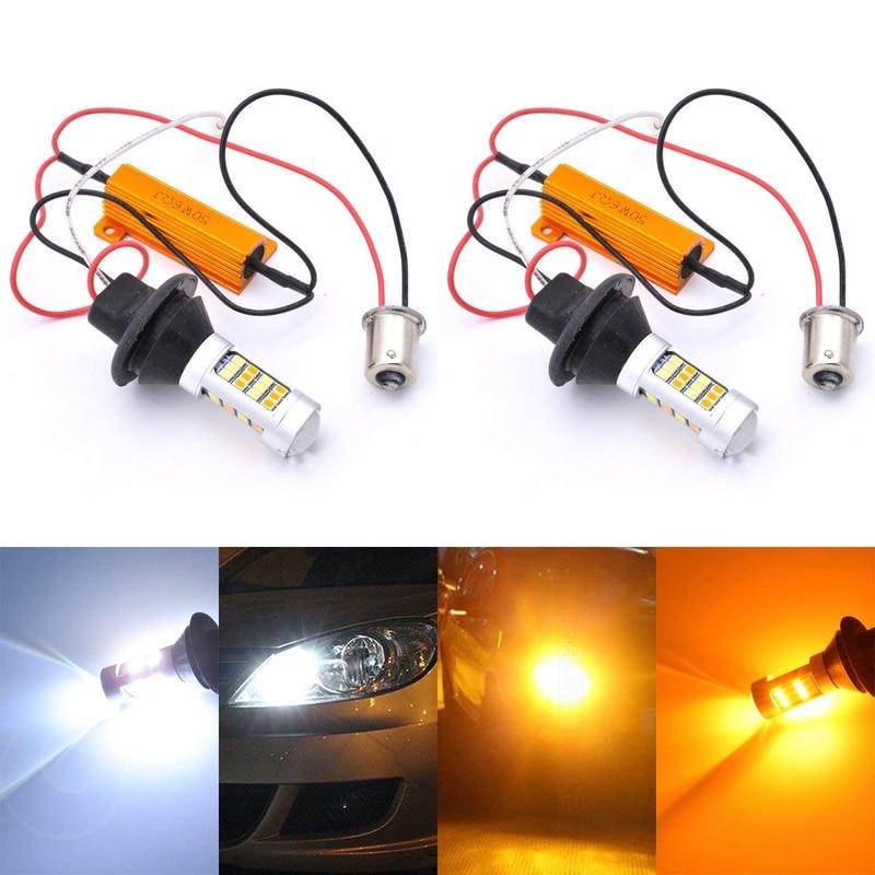 Фото - Ba15s Bau15s 1156 t20 7440 led switchback drl turn signal lampada  42smd 2835 auto luz de conducao diurna decodificador melissa f olson switchback