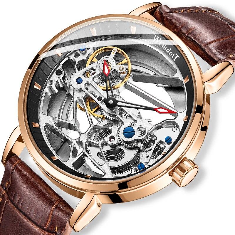 ساعة رجالي توربيون ساعة ميكانيكية فاخرة الجوف تصميم موضة الرياضة ساعة مضادة للماء 2021 جديد Relogio Masculino