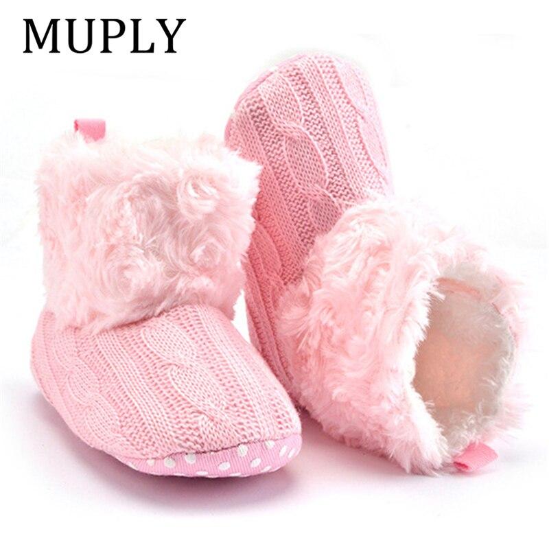 Зимние теплые ботинки для начинающих ходить, детские ботинки по щиколотку, кроше вязаный флисовый детский ботинки для мальчиков и девочек, 2019