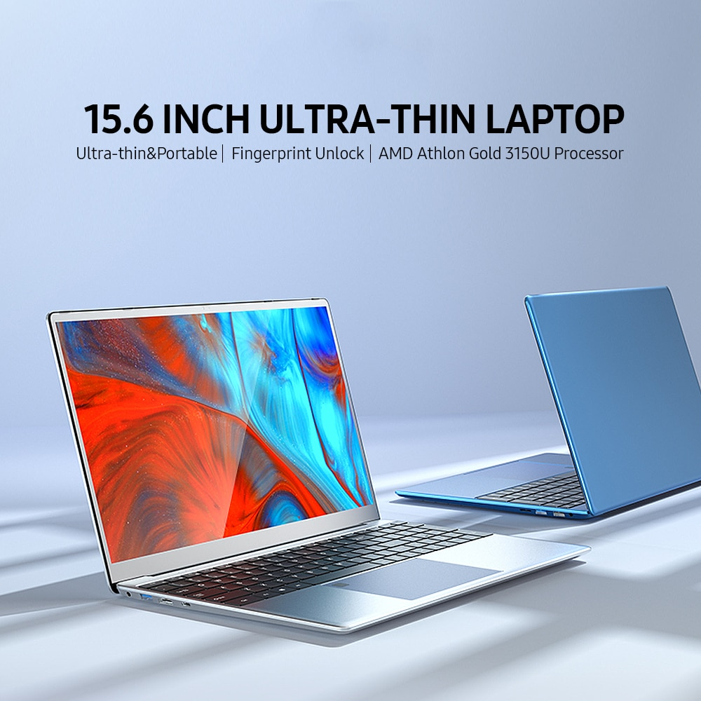 Promo MAX RAM DDR4 64GB M.2 Nvme 3TB SSD Ultrabook Metal AMD Athlon Gold 3150U 2.4G/5.0G Bluetooth windows 10 Pro gaming AMD laptop