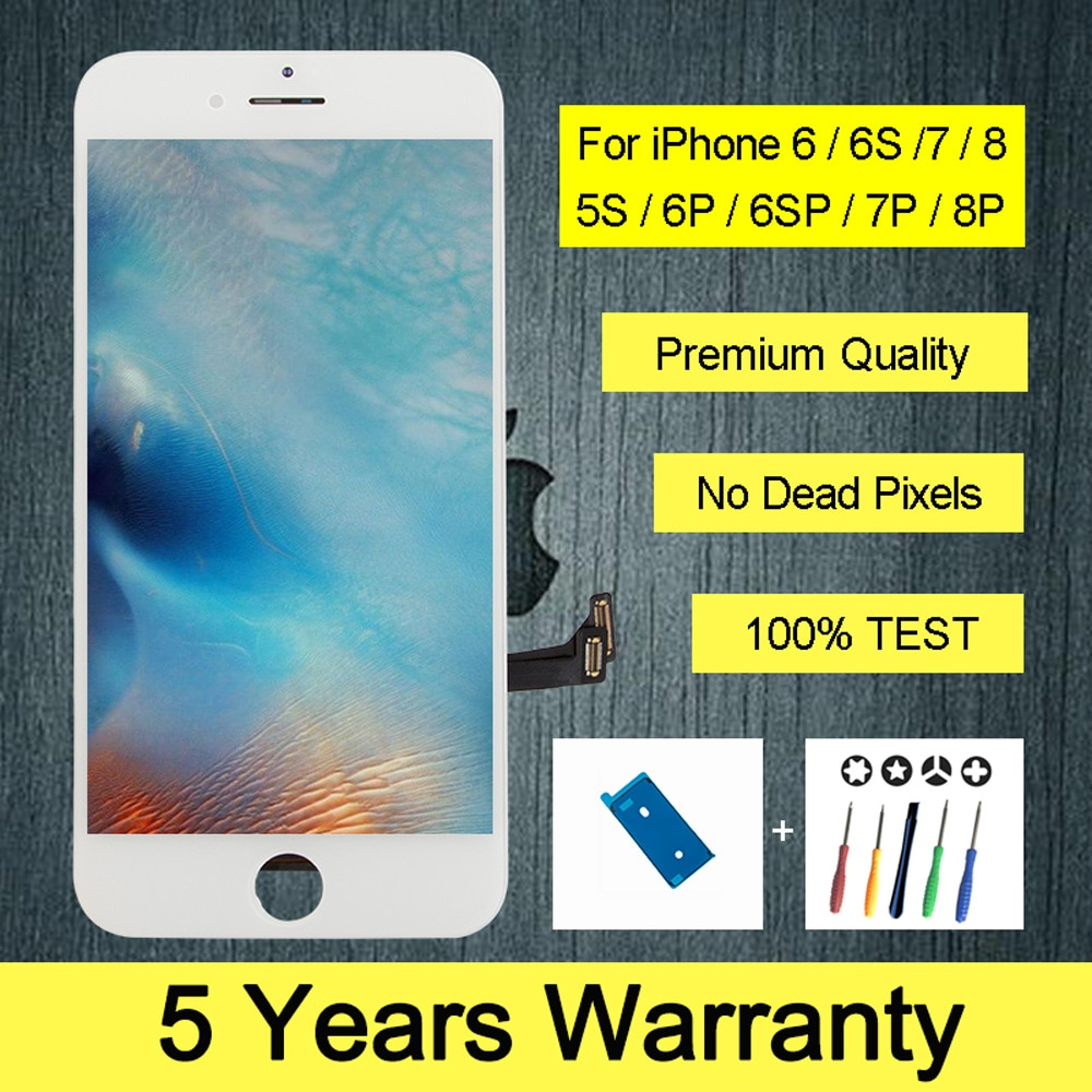 Lcd de calidad superior para iPhone 7 6 6s 7 8 plus pantalla táctil con pantalla táctil 3D para iPhone 4s 5 5s 5SE pantalla Lcd