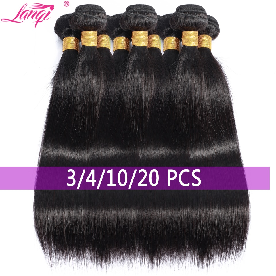 Lanqi оптом кости прямые волосы пряди оптом человеческие волосы пряди предложения волосы для наращивания бразильские волосы, волнистые пряди