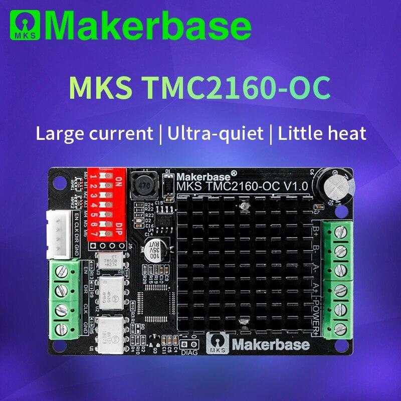 Peças de impressora 3d mks tmc2160_oc tmc2160 motor deslizante driver cnc ultra bastante para gen l placa contro sgen