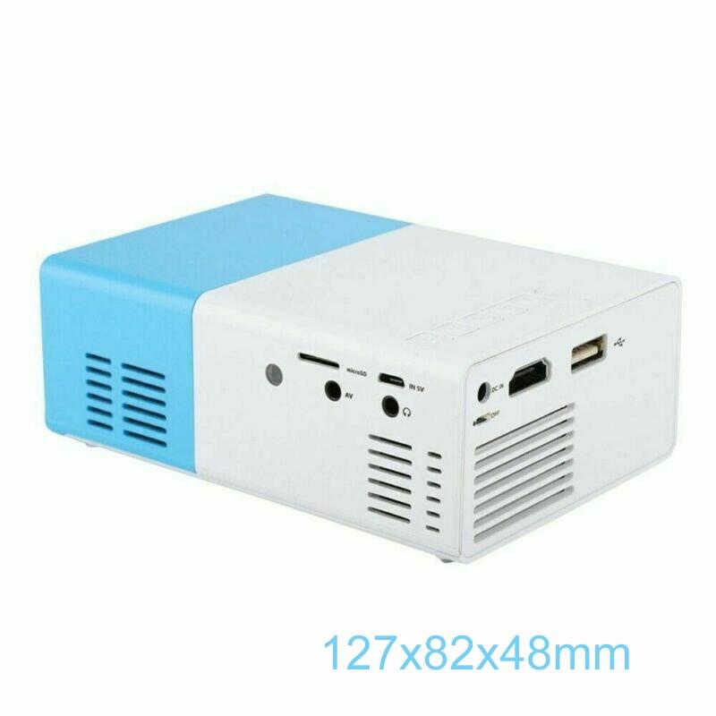 YG300 جهاز عرض LED ثلاثي الأبعاد صغير للجيب HD 1080P سينما المسرح المنزلي USB HDMI متوافق مع SD مجموعة معدات الصوت والفيديو المنزلية