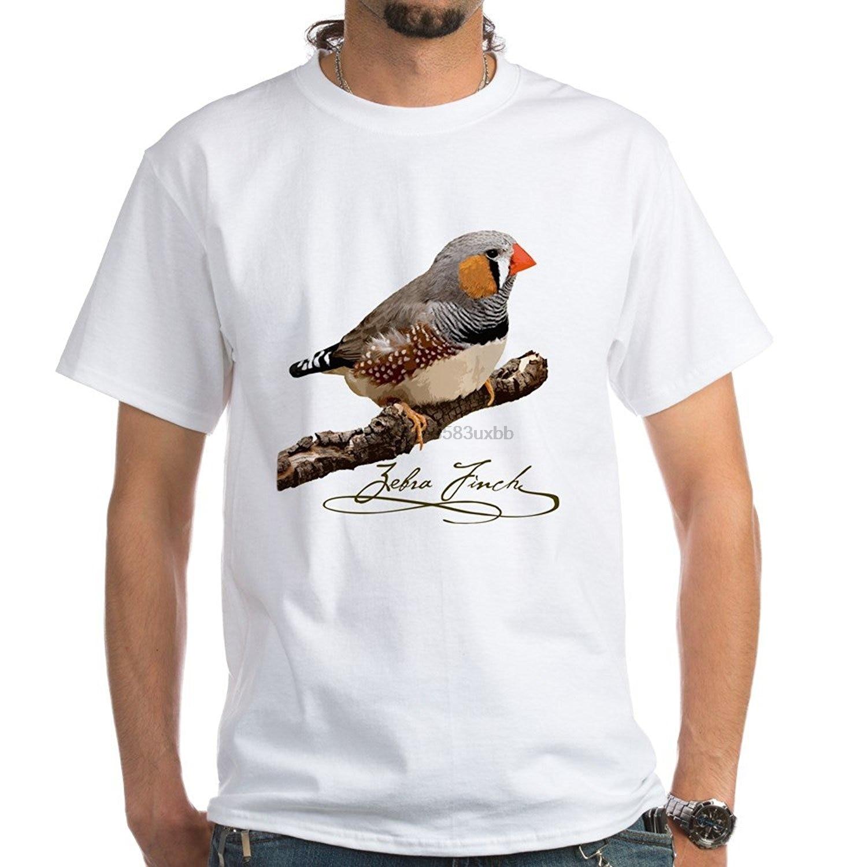 Zebra Pinzón camiseta-diseño frontal-Camiseta blanca