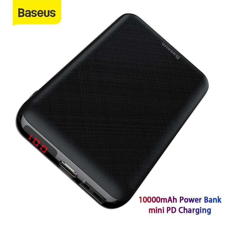 Портативное зарядное устройство Baseus Mini, 10000 мАч, usb type-C, внешний аккумулятор, портативное зарядное устройство для телефона