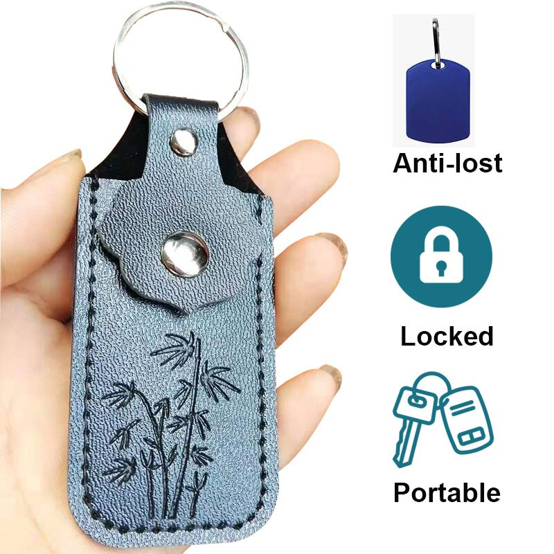 Funda USB bolsa protectora bolsa de bolsillo portátil llavero de cuero para unidad flash usb memoria pendrive Mini OTG Dropshipping