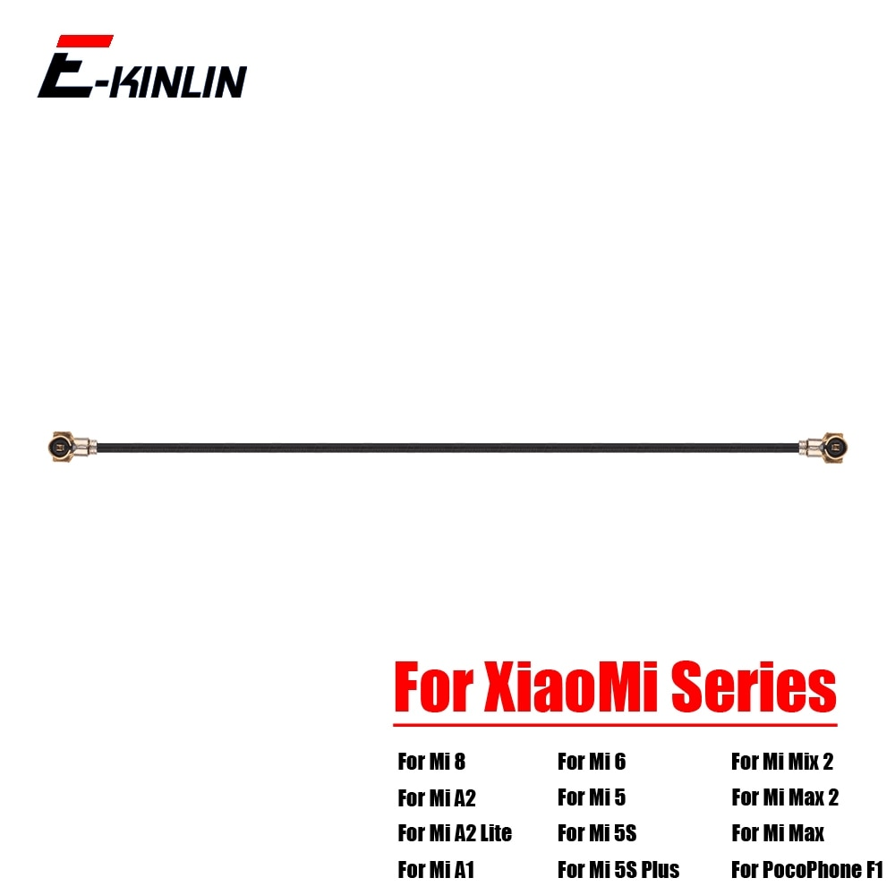 Coaxial Connector Wifi Signal Antenna Flex Cable For XiaoMi Mi 8 SE A2 A1 6 5 5S Plus 4 4S 4C 4i Mix 2S Max 2 PocoPhone F1 100% new for xiaomi mi 6 5 5c 5s plus 4 4c 4i 4s mix 2s max 3 2 power switch on off key volume button flex cable