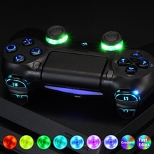 Multi-couleurs Lumineux Thumbstick Classique Symboles d-pad L1 R1 R2 L2 Accueil Visage Boutons DTFS LED Kit pour PS4 CUH-ZCT2 Contrôleur