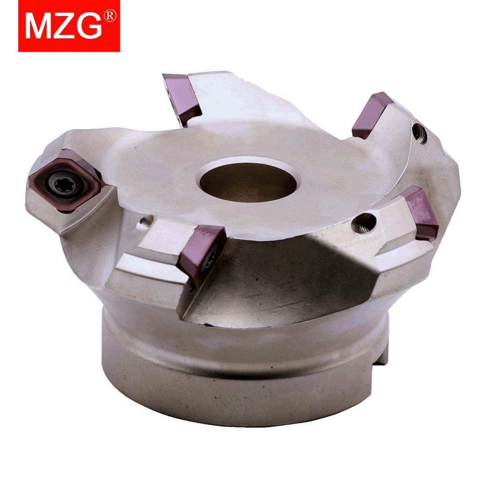 MZG KM12R50-22-4T أربعة SEKT1204 كربيد إدراج فرضت سريع تغذية سبائك نهاية مطحنة طحن الآلات بلاطة الوجه الطحن القاطع