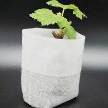 100 pièces Pots de pépinière sacs de culture de semences tissus Non tissés jardin approvisionnement 8x10cm fleur semis maceteros plasticos para plantas