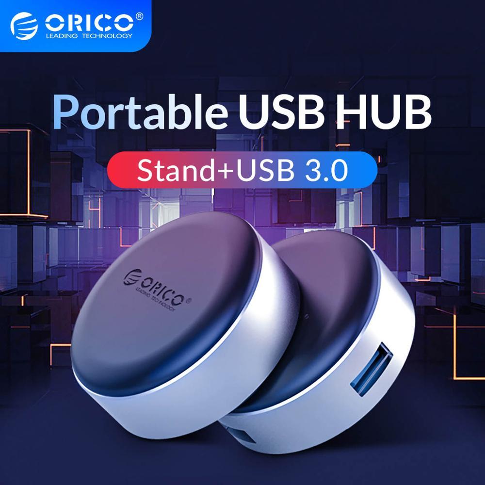 Moyeu ORICO USB3.0 avec support pour ordinateur Portable en aluminium coussin de refroidissement Portable Dissipation thermique antidérapant pour MacBook Pro adaptateur de répartiteur USB