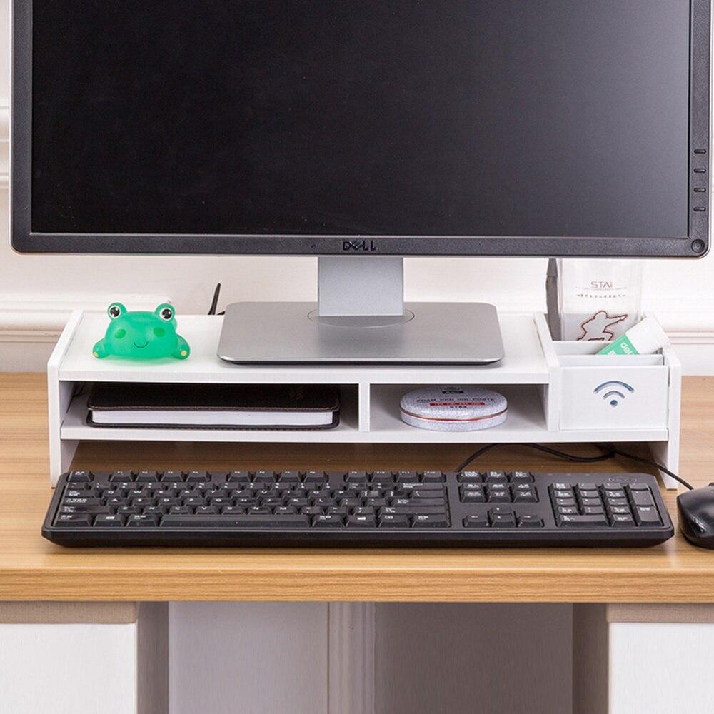 Multi-function Desktop Monitor Stand Computer Screen Riser Shelf Plinth Strong Laptop Stand Desk Holder For Notebook TV