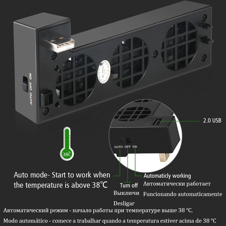 Cooling Fan Cooler Control for X Box Xbox One X Console Controller USB Gadget DC 5V Ventilator Refrigerator Ventilador Fanar Fan 4