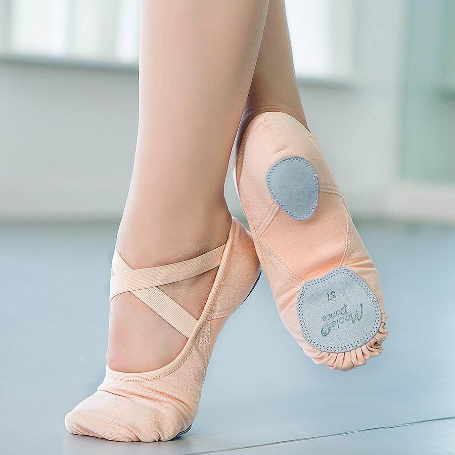 Балетки женские эластичные холщовые танцевальные туфли обувь с пуантами балетки для девочек балетки на плоской подошве обувь для гимнасти...