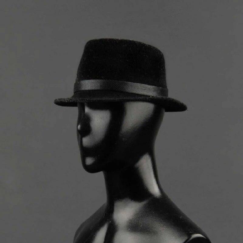 ZY5008 1/6 мужской черный топ шляпа солдатская шляпа одежда аксессуары подходят 12 ''фигурки куклы в наличии