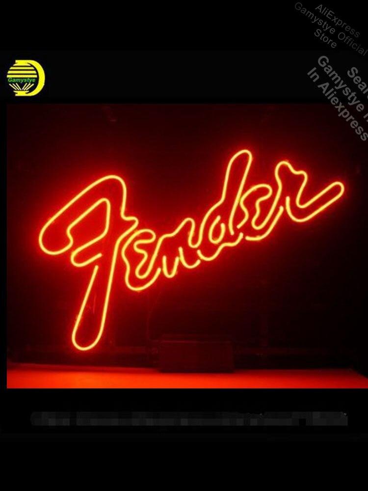 علامة نيون زجاجية أصلية ، لمصابيح إضاءة نيون كبيرة ، علامة موسيقى مصنوعة يدويًا ، لافتة مخصصة للاستجمام ، لافتة غرفة التسوق