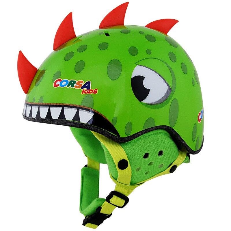 Casco de invierno cálido Corsa Cool the kids viñetas de animales casco de esquí casco de seguridad más casco de orejera de terciopelo