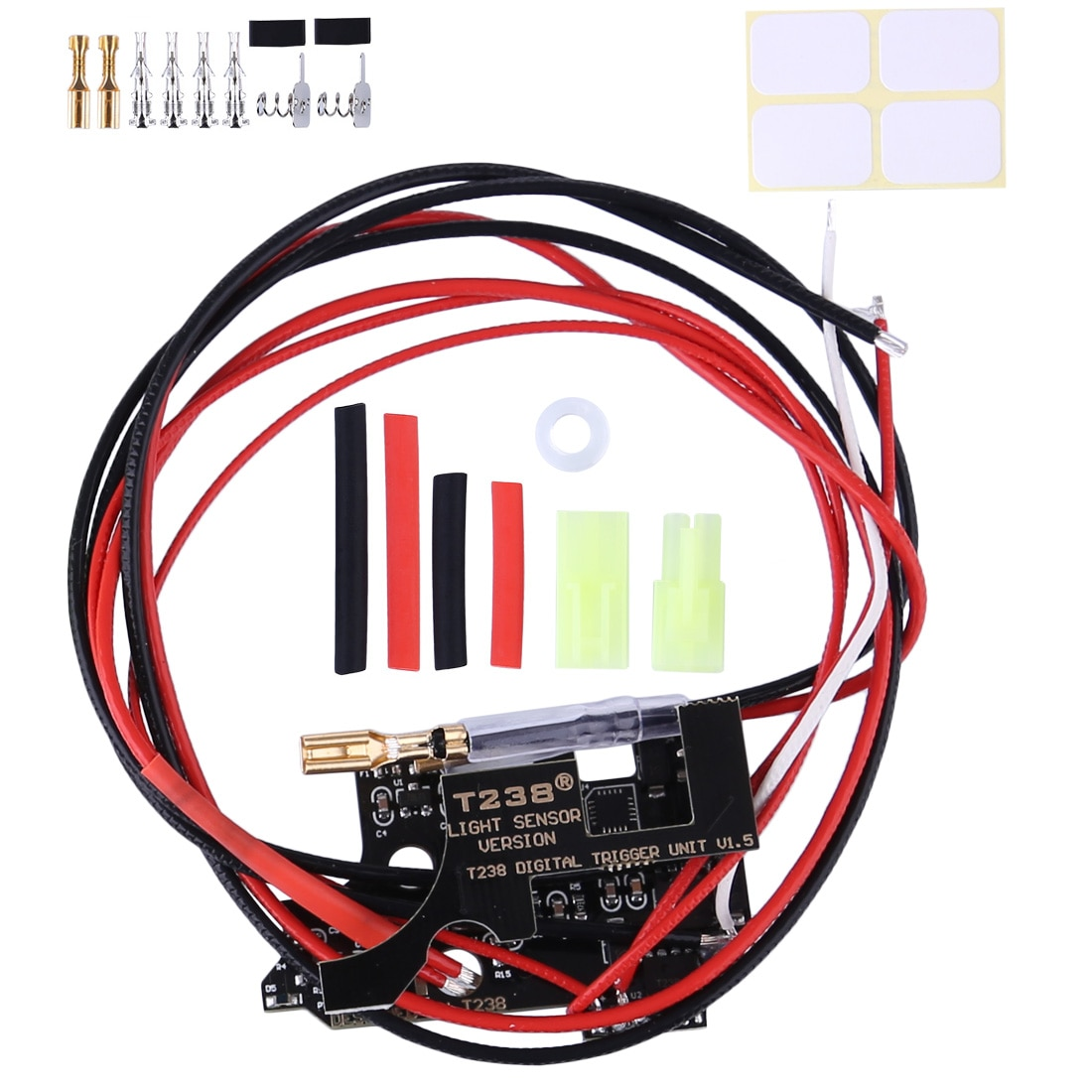 1pcs Version 1.7 T238 Programmable MOSFET Electronic Fire Control Module For XWE M4 / JM Gen.9 / FB / Jingji / JQ No.2 Gearbox