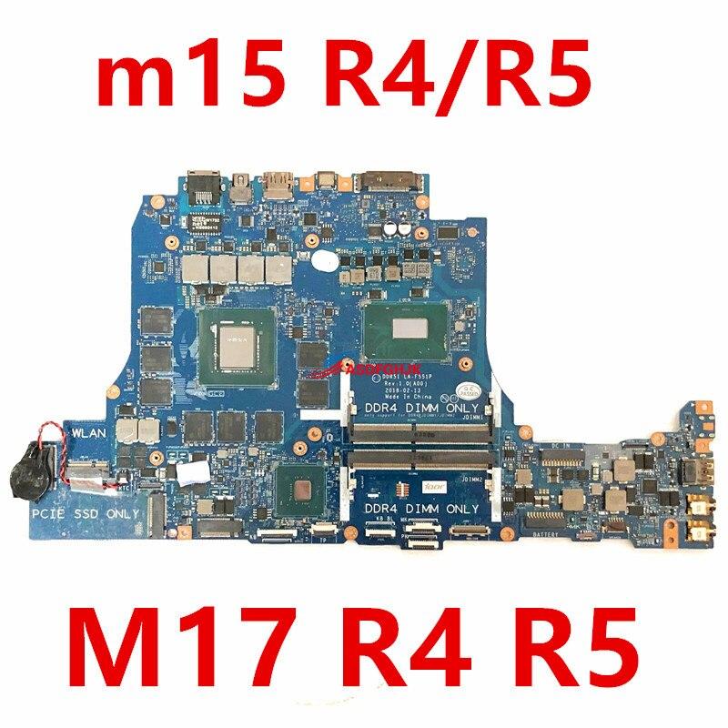 LA-F551P 0D3R1D CN-0D3R1D لديل من Alienware 17 R5 17-R5 m15-r5 m15 r5 اللوحة المحمول SR3YY I7-8750H CPU 4.1GHz GTX1070