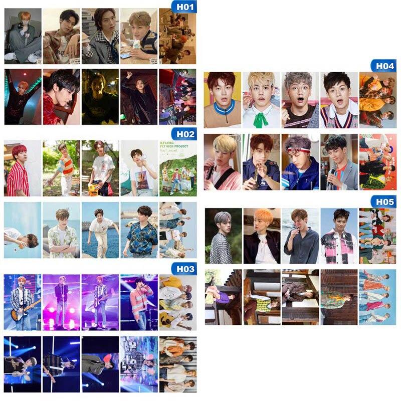 Nuevo 10 unids/set KPOP SUPER JUNIOR NUEST N.Flying AB6IX álbum foto tarjeta PVC tarjetas auto-hecho LOMO tarjeta Photocard