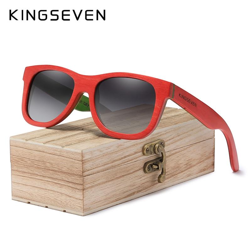 KINGSEVEN hecho a mano 2020 Natural De madera gafas De Sol polarizadas gafas De Sol gradiente De las mujeres De viaje Vintage Oculos De Sol