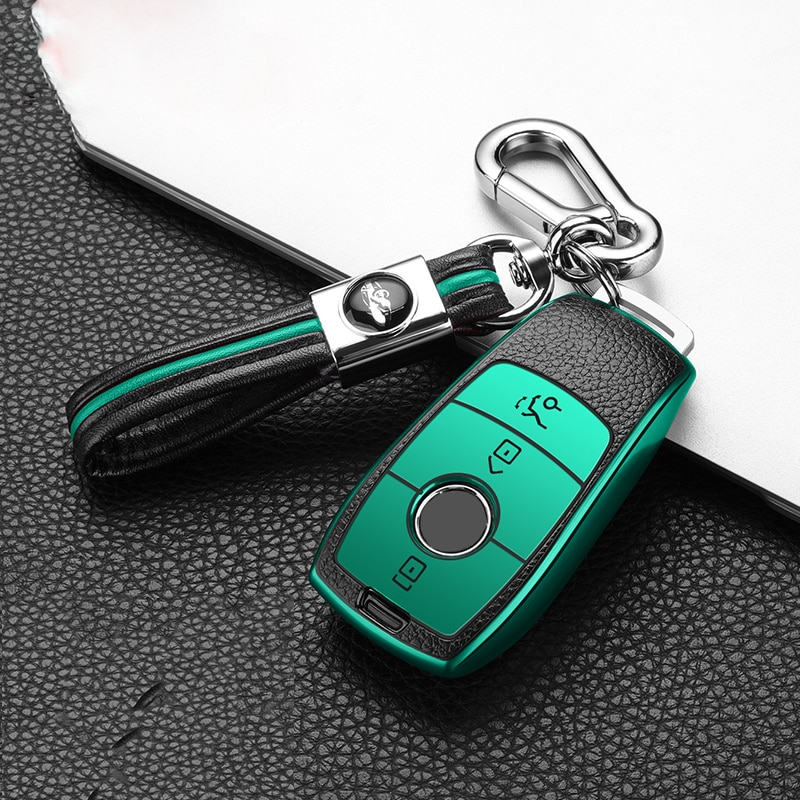 Hight qualität PC + TPU Leder Auto Schlüssel Fall Abdeckung Halter Für Mercedes Benz S E Klasse E300 E200 E220 w213 2017 2018 Zubehör