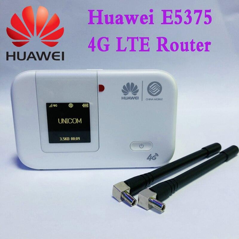 roteador movel do ponto quente do roteador 4g tdd fdd de huawei e5375 4g lte wifi com antena