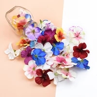 3050pcs silk orchid heads flower wall for wedding home decor fake cherry scrapbooking diy gift box artificial flowers candy box