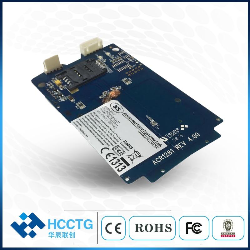 USB NFC تماس وحدة قراءة بطاقات ذكية مع فتحة سام (ACM1281U-C7)