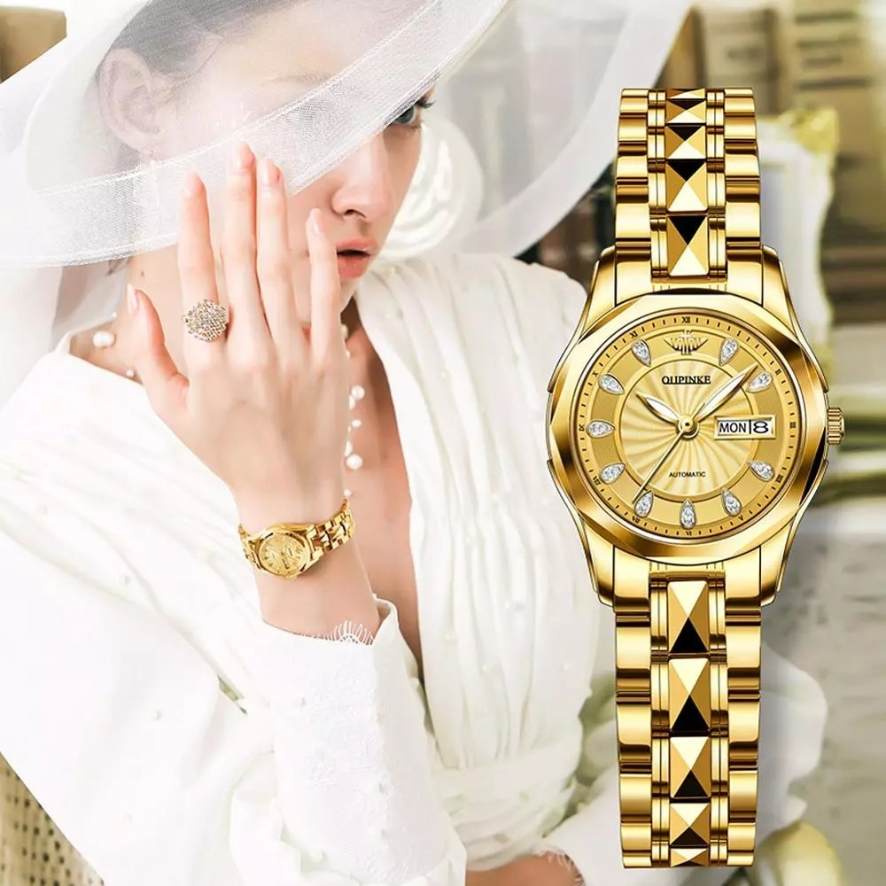 OUPINKE genuine imported watches ladies mechanical watches waterproof simple temperament luxury fashion ladies enlarge