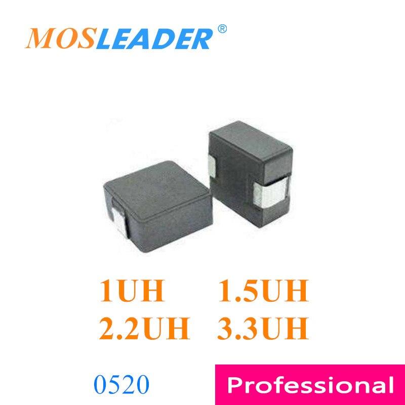 Mosleader1000pcs 0520 1UH 1.5UH 2.2UH 3.3UH 20% 1R0 1R5 2R2 3R3 moldeado Inductores de potencia de alta calidad