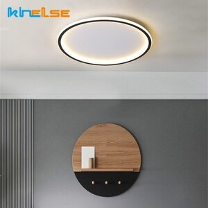 Modern Round Square LED Ultra-thin Ceiling Light Ring-shaped Inside and Outside Luminous Surface Embedded Mounted Ceiling Lamps