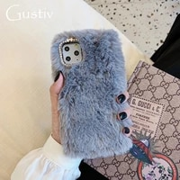 luxury solid color phone case for huawei nova 3i 3 4 5 5i 6 6se 7 7i 7se y5 y5p y6 y6p y7 y7p y9 pro 2018 2019 2020 fluffy plush